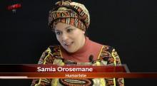 Samia Orosemane dévoile son humour